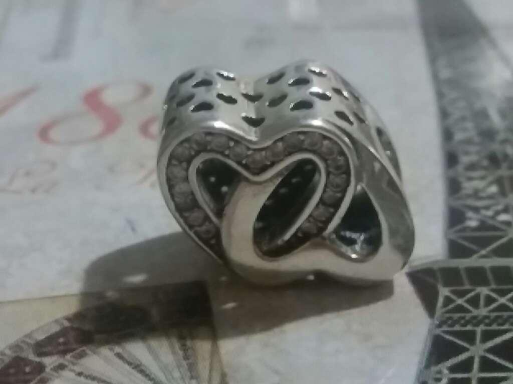 Imagen producto Charms (Corazón entrelazado)  3