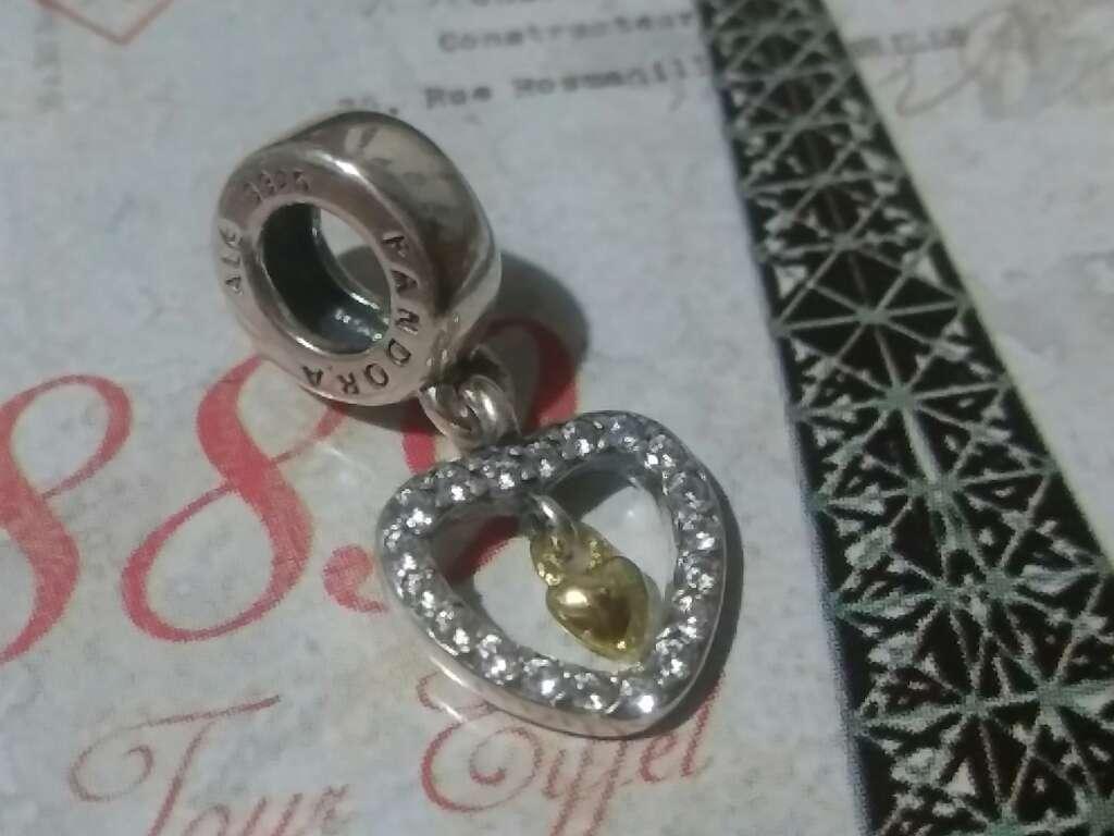 Imagen producto Charms (Corazón con Corazón)  3