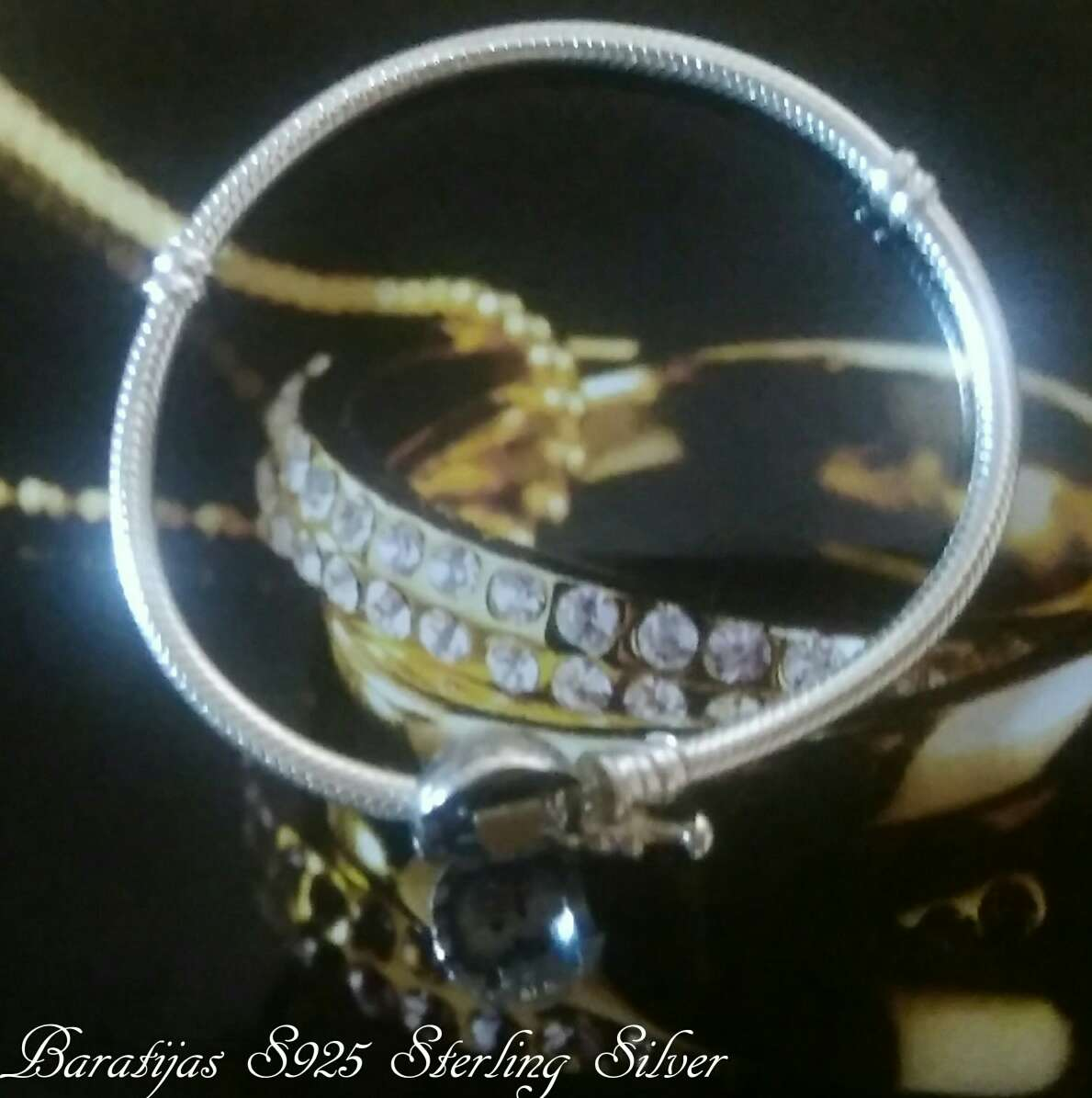 Imagen producto Pulsera de plata de ley (Broche de Corazón)  4