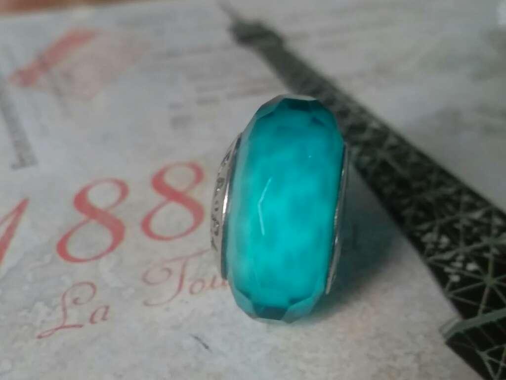 Imagen producto Charms (Cristal de Murano Verde Azulado)  2