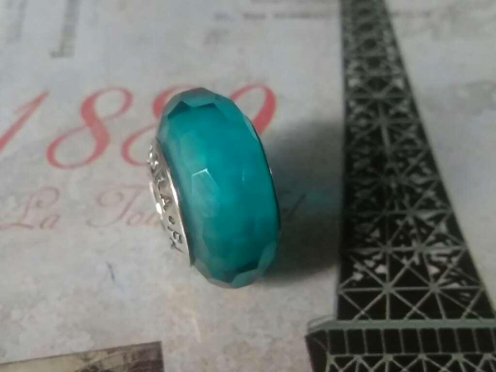 Imagen producto Charms (Cristal de Murano Verde Azulado)  3