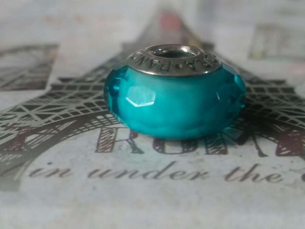 Imagen producto Charms (Cristal de Murano Verde Azulado)  4