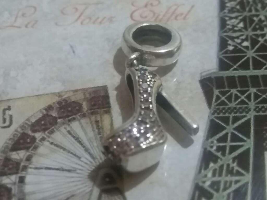 Imagen producto Charms (Zapato de Tacón con circonitas Rosa)  3