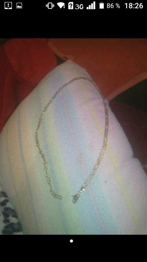 Imagen collar de plata ii el otro bañado en oro