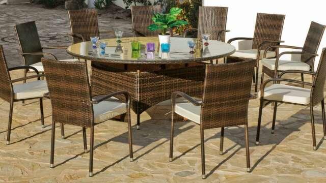 Imagen Conjunto de mesas y sillas de jardín