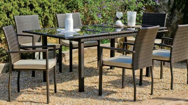 Imagen Mesa extensible y sillas de jardín /Nuevo