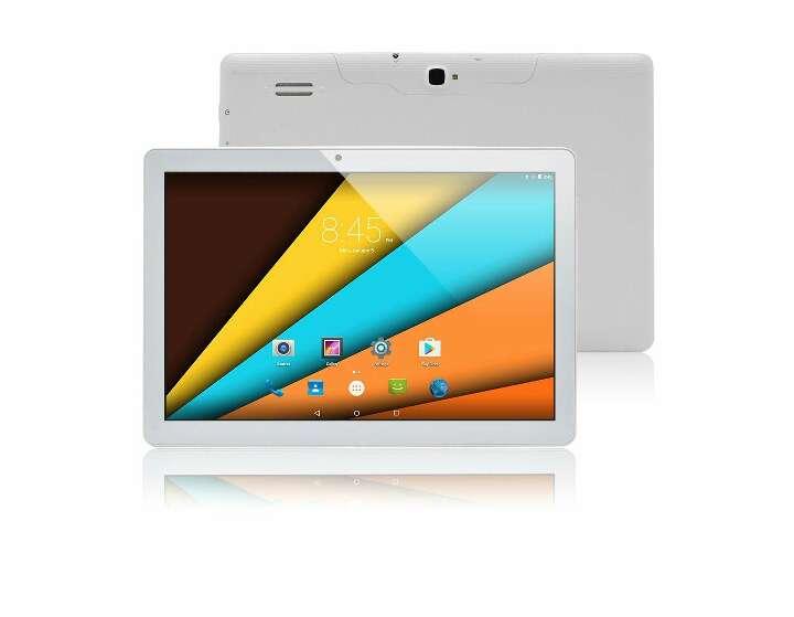 Imagen 10.1 Pulgadas Android 5.1 Teléfono PC Celular Dual-SIM 3G WCDMA GSM 2G Tablet Phone 1G RAM 16G ROM 1280x800 IPS WIFI Bluetooth 2017 NUEVA CPU MediaTek MTK8321 (Blanco)