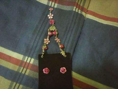 Imagen producto Conjunto de brinco e colar + vestido 2