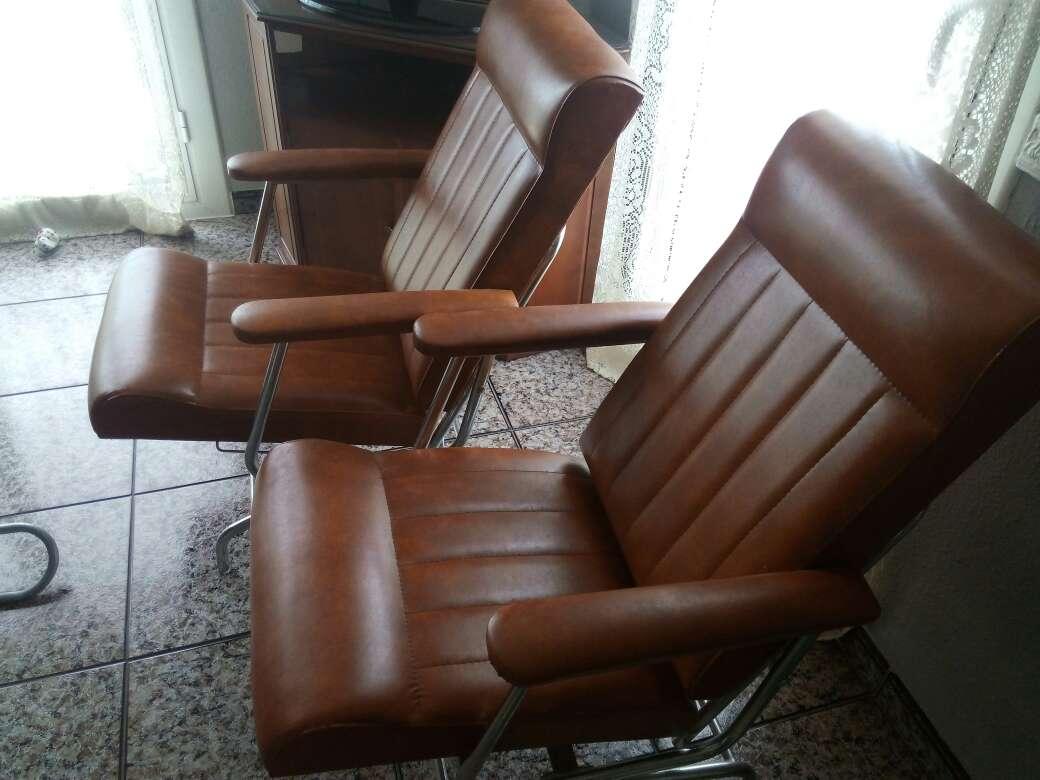 Imagen producto Vendo dos sillones de cuero 2