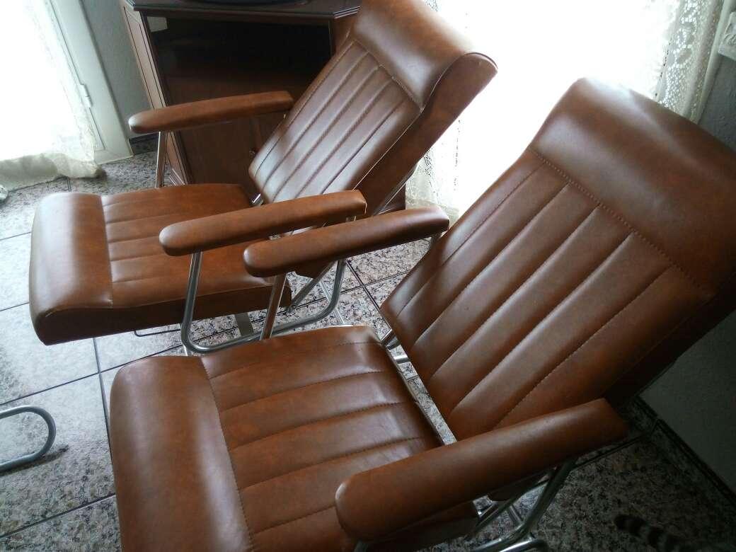 Imagen producto Vendo dos sillones de cuero 3