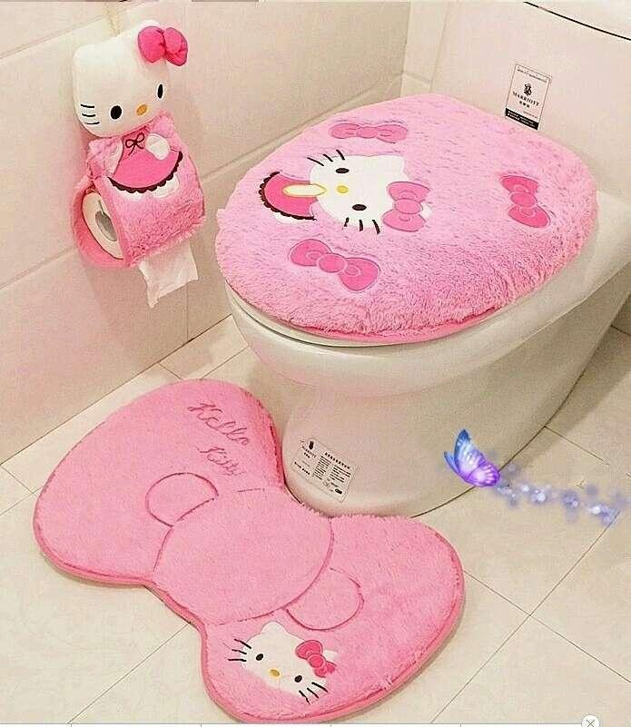 Imagen producto Hello kitty baño nuevo. 2 colores  2