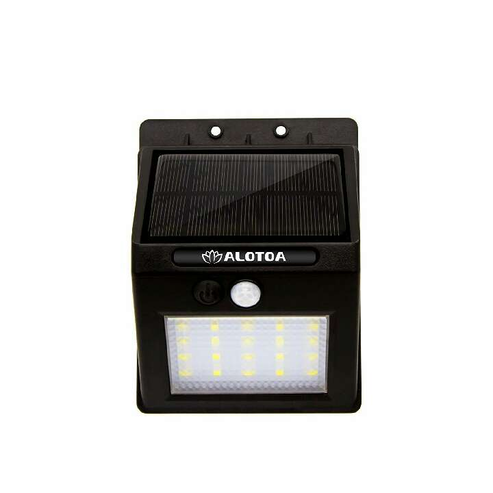 Imagen Luces Solares LED de Pared, Blanco20Leds Sensor movimiento