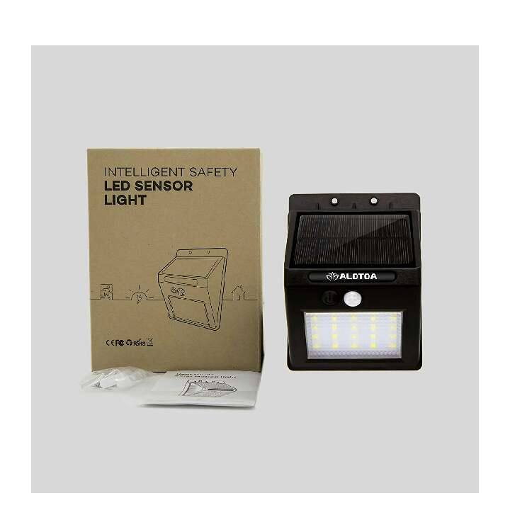 Imagen producto Luces Solares LED de Pared, Blanco20Leds Sensor movimiento 2