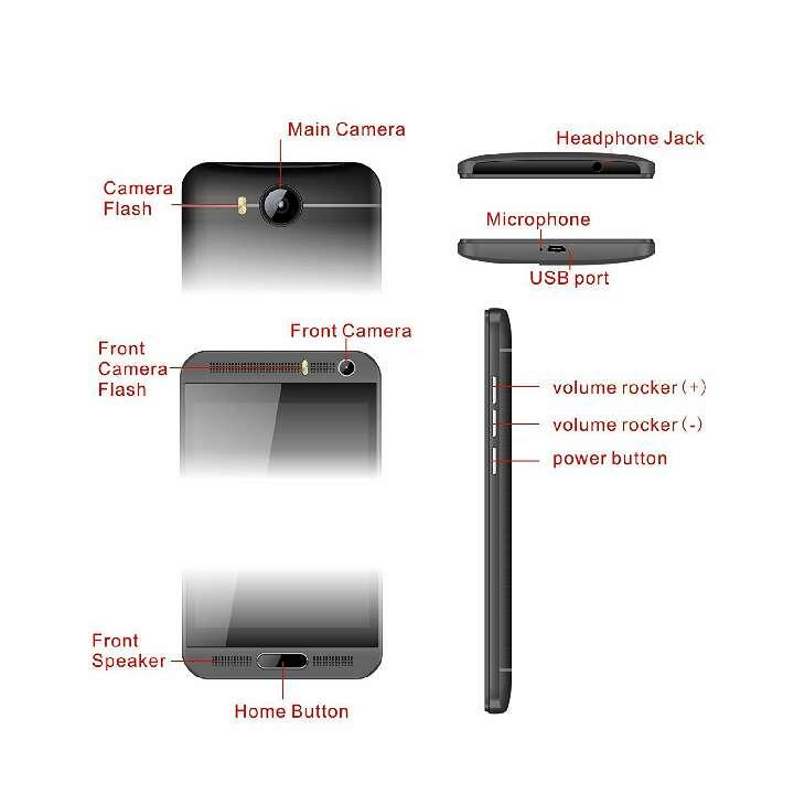 Imagen producto Teléfono inteligente Android de 5.1  8 GB de RAM + 1 GB ROM quad-core 1.3 GHz 8 MP dual SIM WCDMA & GSM teléfono (negro) 4