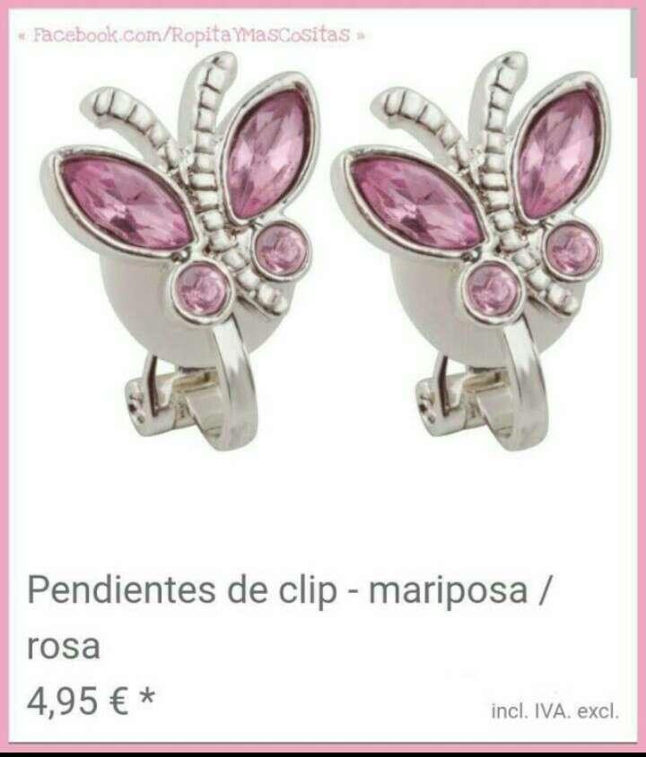 Imagen Pendientes clip Mariposas nuevos