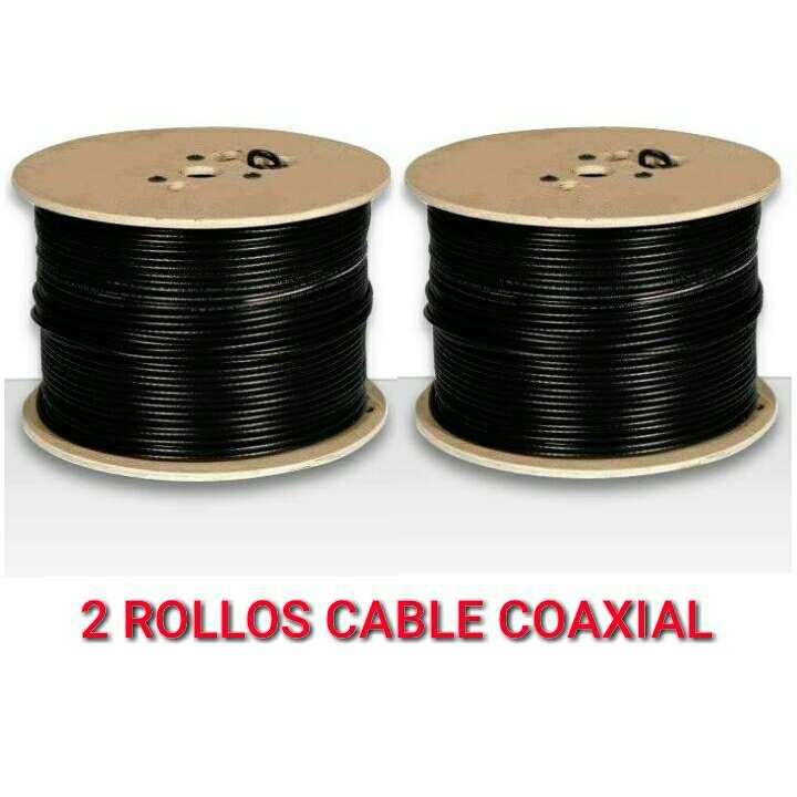 Imagen 2 Rollo cable coaxial TV Y SAT RG6 nuevos.