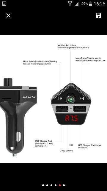 Imagen producto Bluetooth Kit para Coche Inalámbrico de FM Del Mod 4