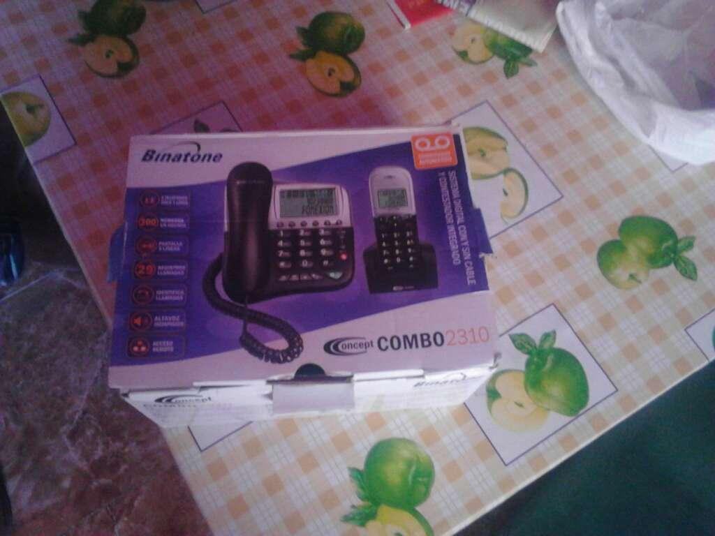 Imagen teléfono fijo marca Binatone combó