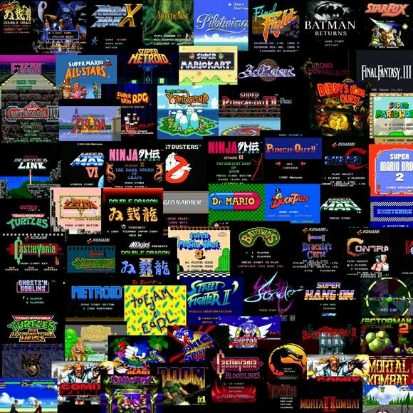 Imagen mando y juegos clásico