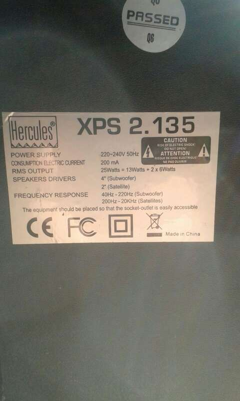 Imagen producto Altavoces Hercules 2