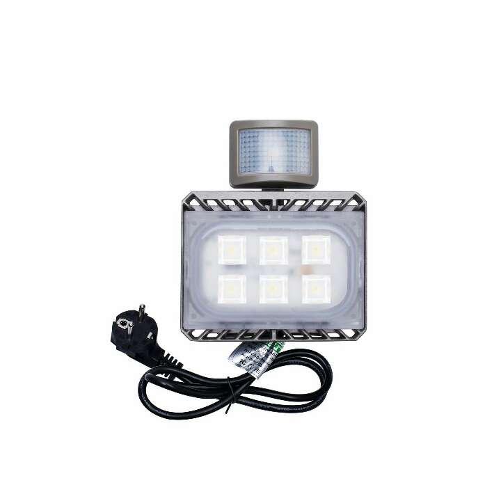 Imagen 30W Blanco Frío LED Foco Proyector Luz, Foco proyector con iluminación LED y PIR sensor de movimiento