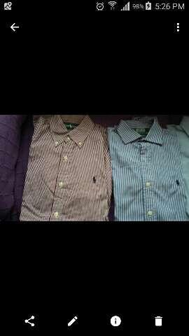 Imagen lote 4 camisas polo lauren T. 38