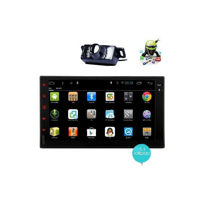 Imagen Android 5 1 Stereo 2 din coche de 7 pulgadas de pantalla táctil capacitiva