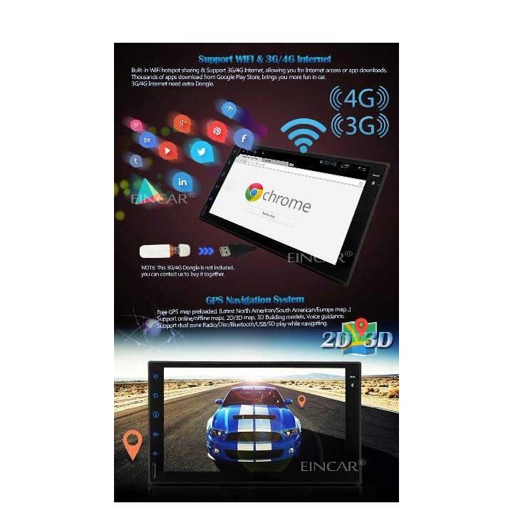 Imagen producto Android 5 1 Stereo 2 din coche de 7 pulgadas de pantalla táctil capacitiva  2