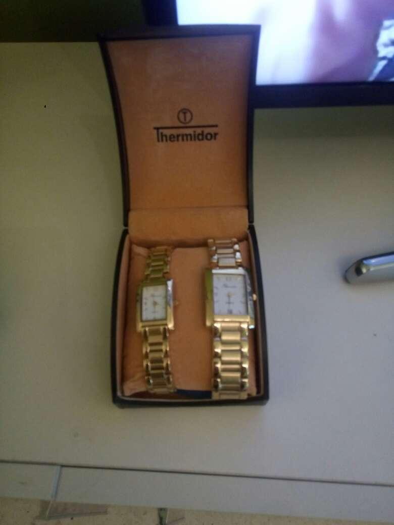 Imagen producto Relojes hombre y mujer bañado en oro 2