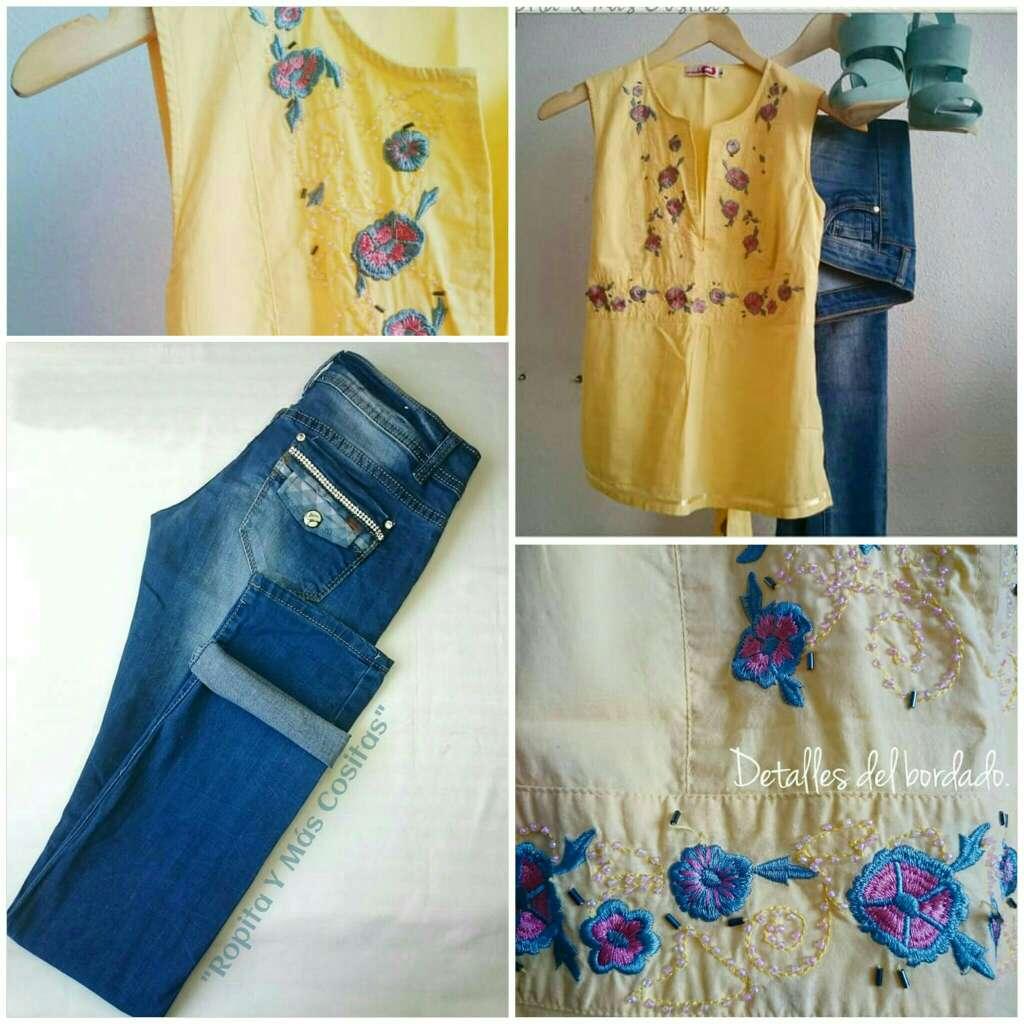 Imagen Lote Jeans y blusa Kimono