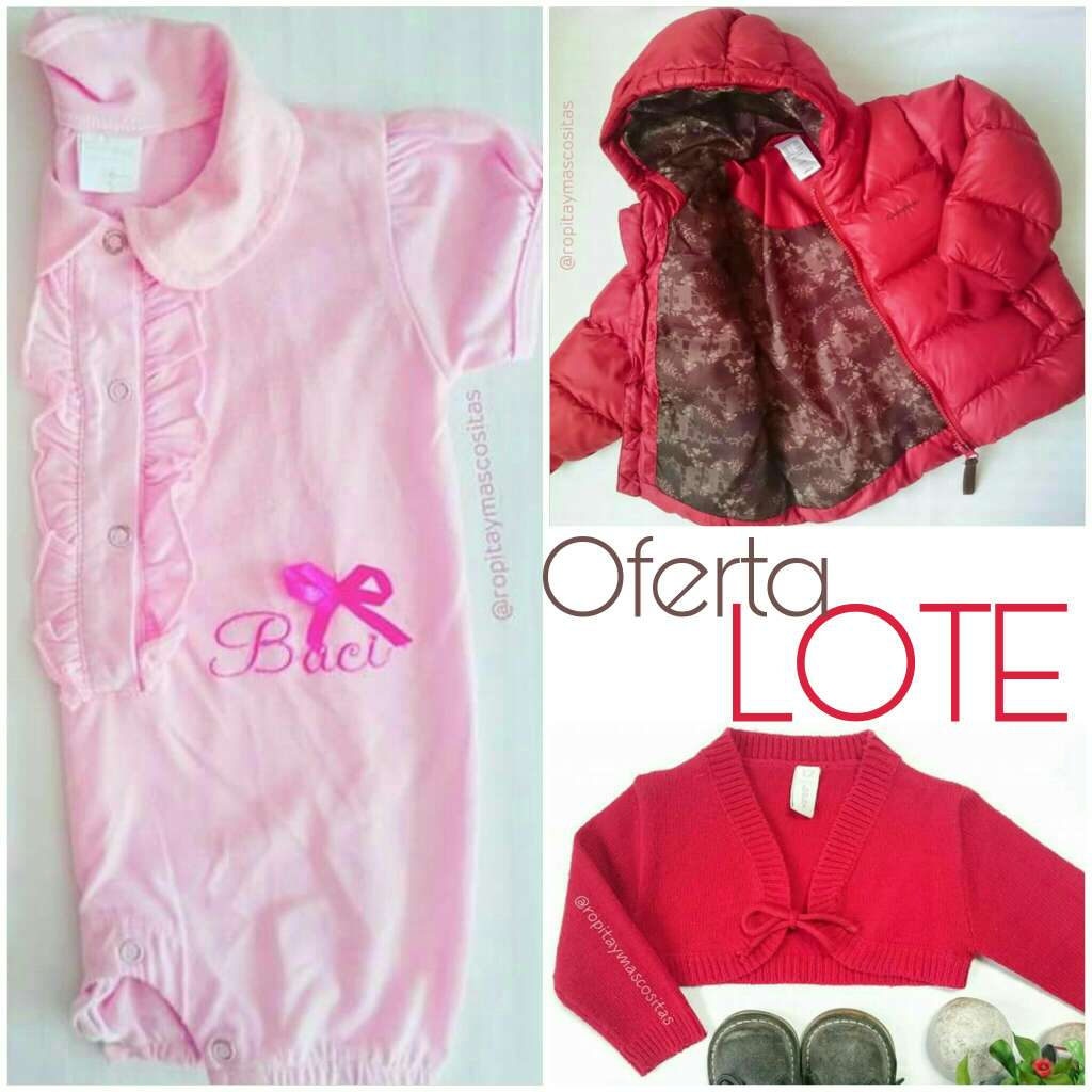 Imagen Oferta lote niñas. Plumas bolero y pijama