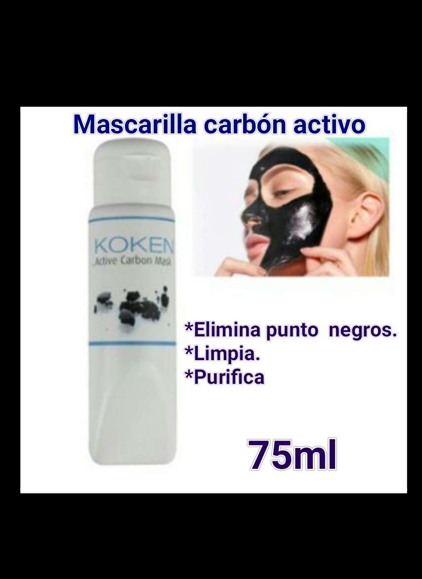 Imagen Mascarilla puntos negro