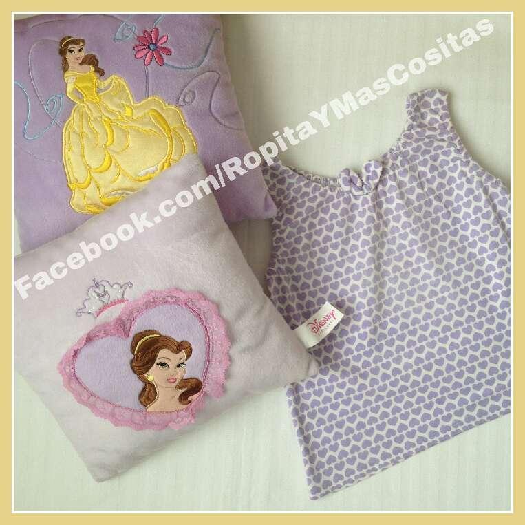 Imagen producto Bella Y Bestia DISNEY peluche Lunnis y Vestido  3