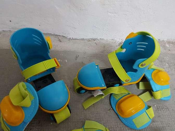 Imagen producto Patines infantiles extensibles con rodilleras y coderas imaginarium  2