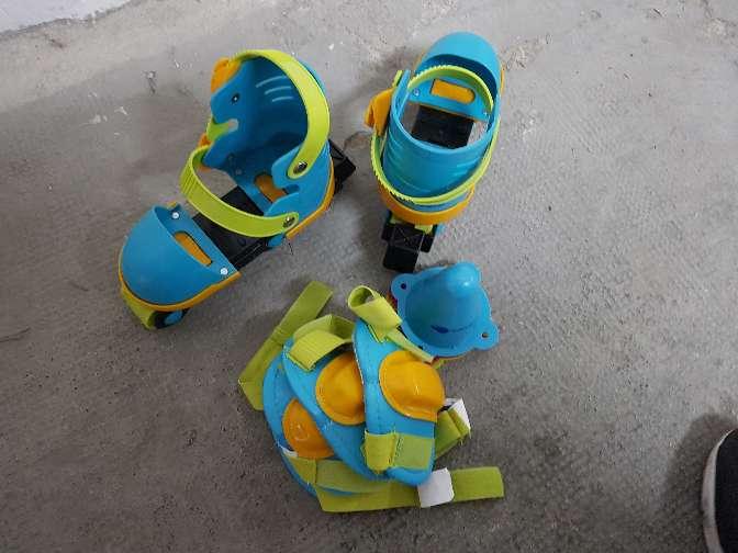 Imagen producto Patines infantiles extensibles con rodilleras y coderas imaginarium  3