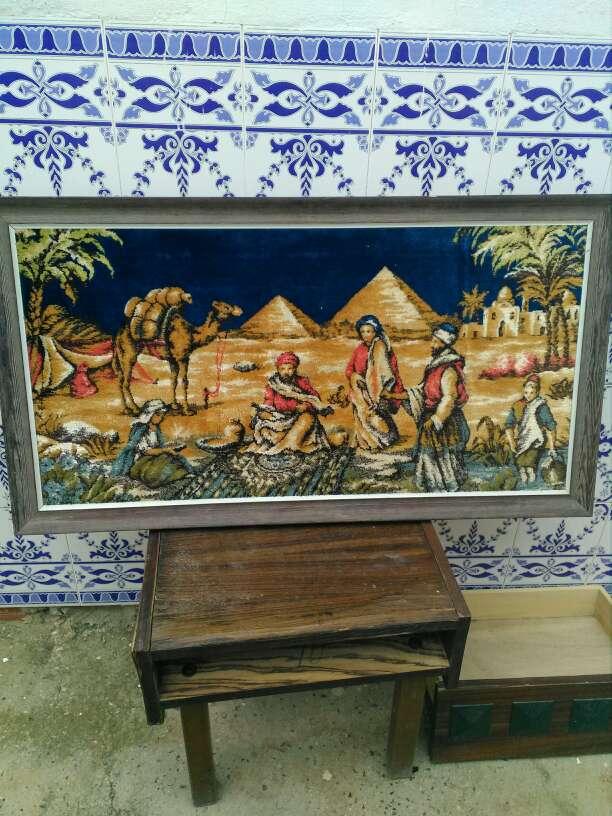 Imagen tapiz antiguo con marco