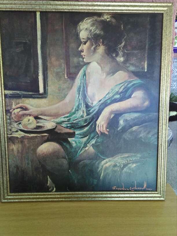 Imagen cuadro de pintura de mujer