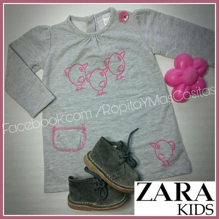 Imagen Vestido gris ZARA BABY y botas serraje