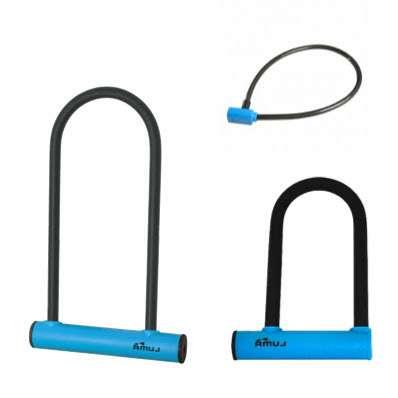 Imagen tres candados Azul Bicicleta