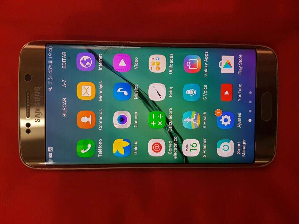 Imagen producto Samsung galaxy s6 edge con desperfecto en pantalla 3