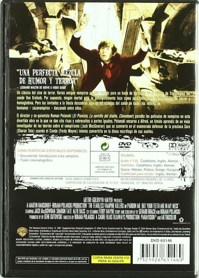 Imagen producto Película DVD El baile de los vampiros  2