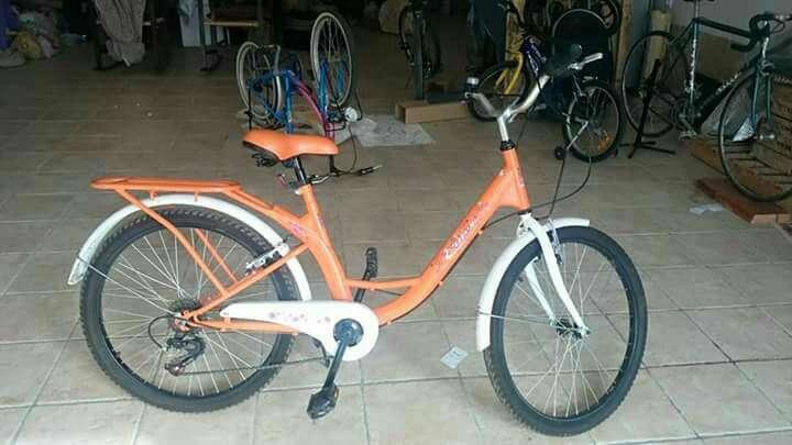 Imagen bicicleta naranja
