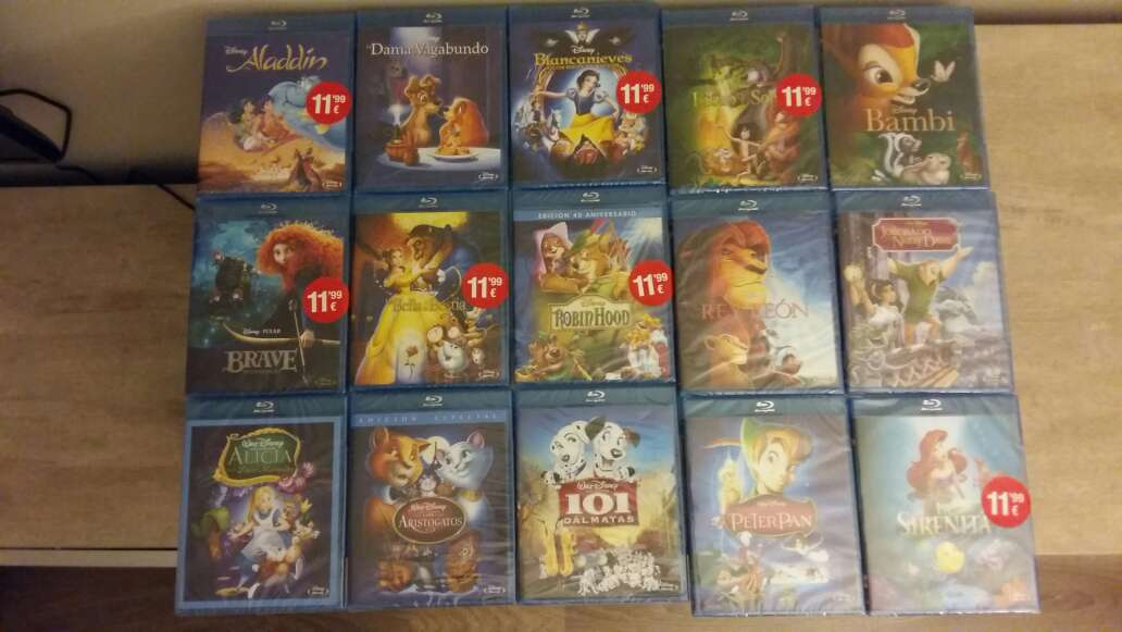 Imagen Pack Blu-Ray Disney Clásicos