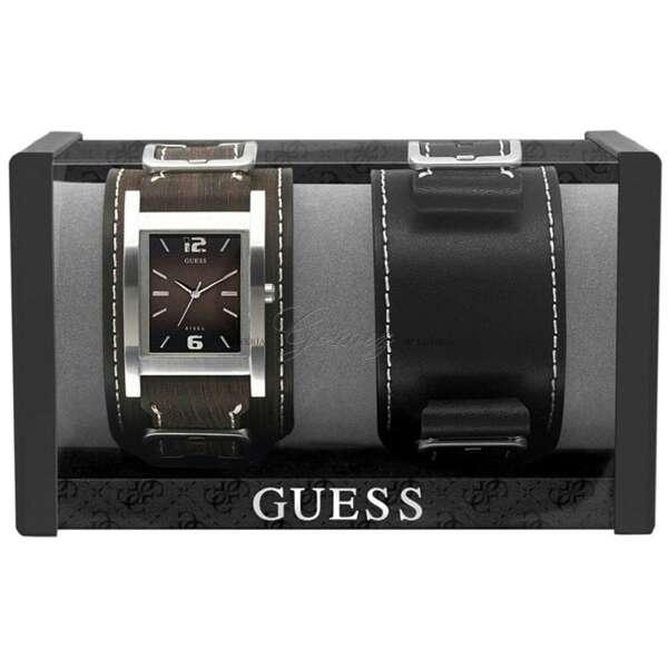 Imagen producto Reloj Guess con dos correas de cuero 3