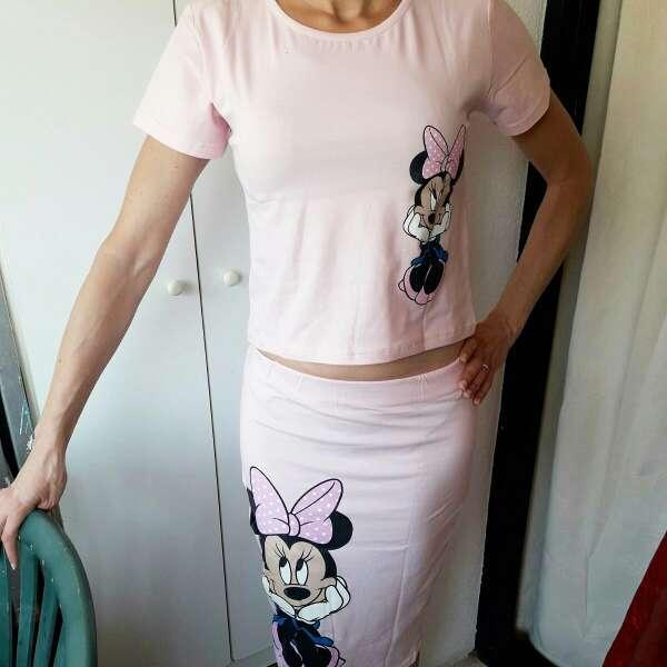 Imagen Conjunto Minnie sin usar en rosa