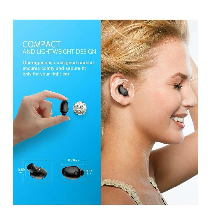Imagen Mini Auricular Bluetooth, VicTsing bluetooth 4.1 inalambricos y EDR, Con Manos Libres y Cancelación de Ruido. Sólo UNA HORA de Carga Completamente Para hacer llamadas en coche y oficina etc