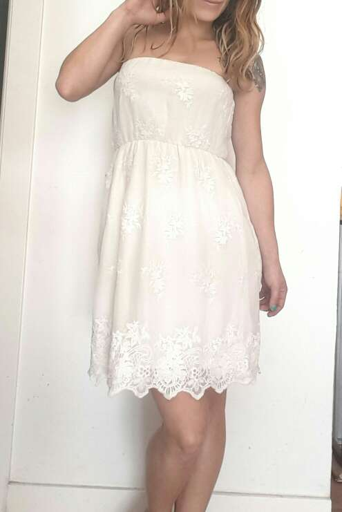 Imagen producto Vestido ibicenco Palabra de honor de bsk talla S=34 3