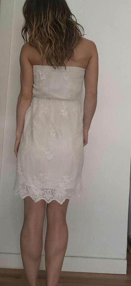 Imagen producto Vestido ibicenco Palabra de honor de bsk talla S=34 4