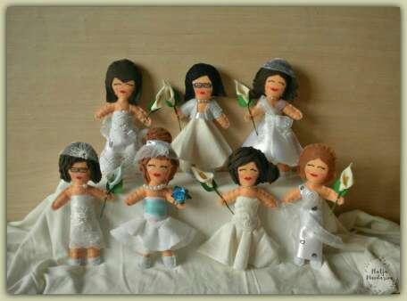 Imagen producto Muñecos para tarta de boda. 2