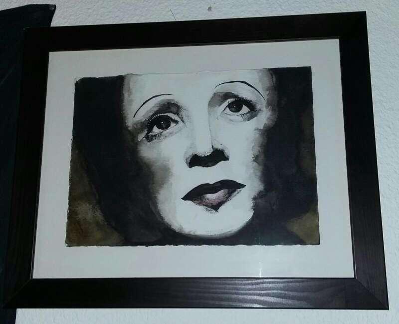 Imagen producto Cuadro decoración Edith Piaf  1